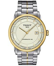 Tissot Watch, Men's Swiss Automatic Luxury Two-Tone Stainless Steel Bracelet 41mm T0864072226100