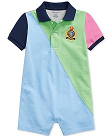 Baby Boys Crest Cotton Polo Shortall