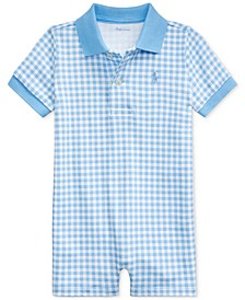 Baby Boys Gingham Cotton Polo Shortall