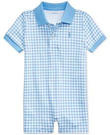 폴로 랄프로렌 아기 깅엄 체크 우주복 Polo Ralph Lauren Baby Boys Gingham Cotton Polo Shortall