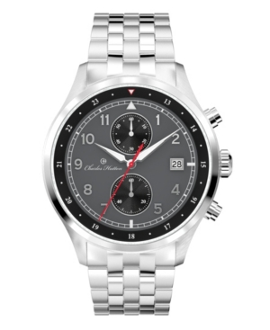 Men's Cavalier Chronograph Silver Stainless Steel Strap Watch 44mm