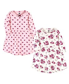 Baby Toddler Girls Rose Dresses, Pack of 2