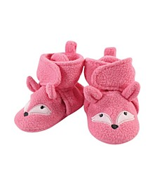 Baby Girls Miss Fox Cozy Fleece Booties