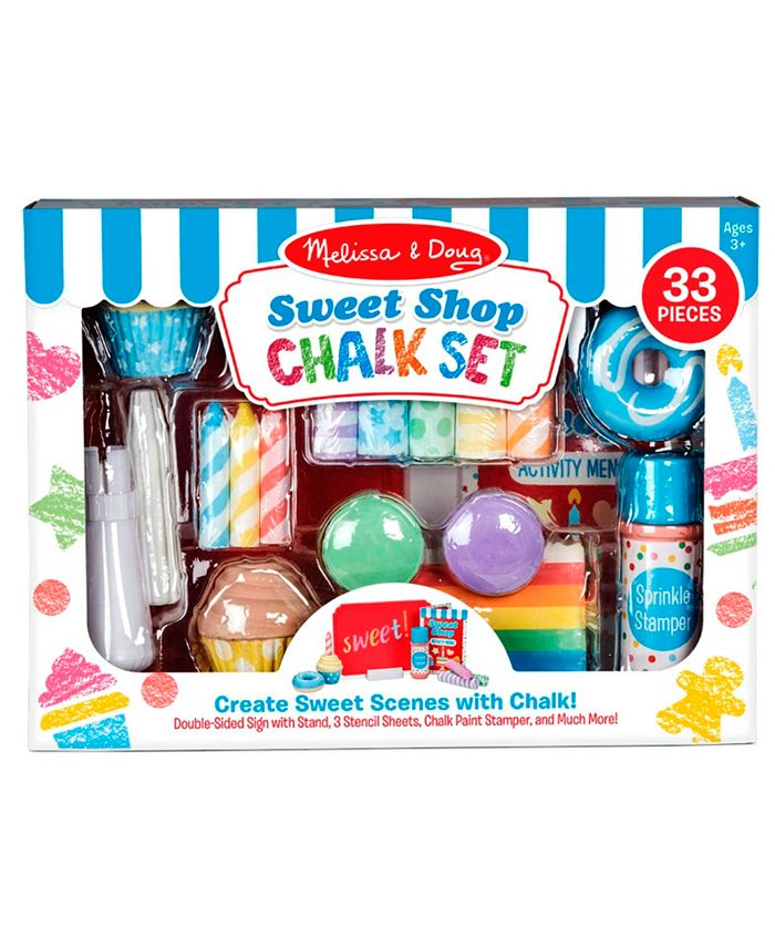 Melissa and Doug - Sweet Shop Chalk Set with 33 pieces to create sweet scenes