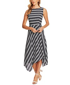 Asymmetrical Striped Dress