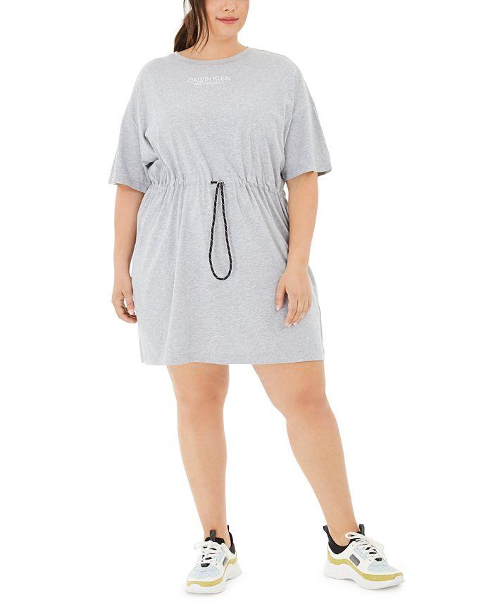 Calvin Klein - Plus Size Cotton Drawstring T-Shirt Dress