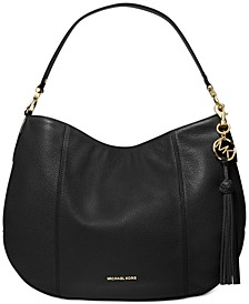 Brooke Large Zip Leather Hobo