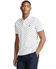 Men's Classic-Fit Anchor-Print Polo Shirt