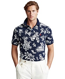 Men's Custom Slim-Fit Tropical Print Polo