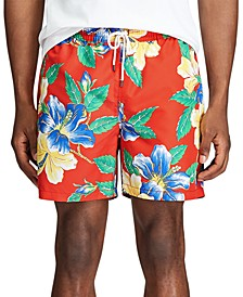 Men's Big & Tall Floral Traveler Swim Trunks
