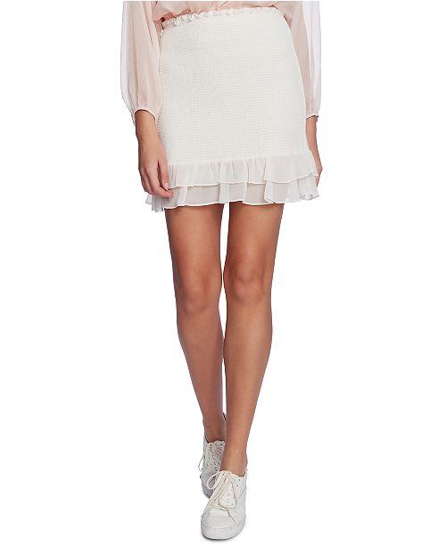 1.STATE Smocked Mini Skirt