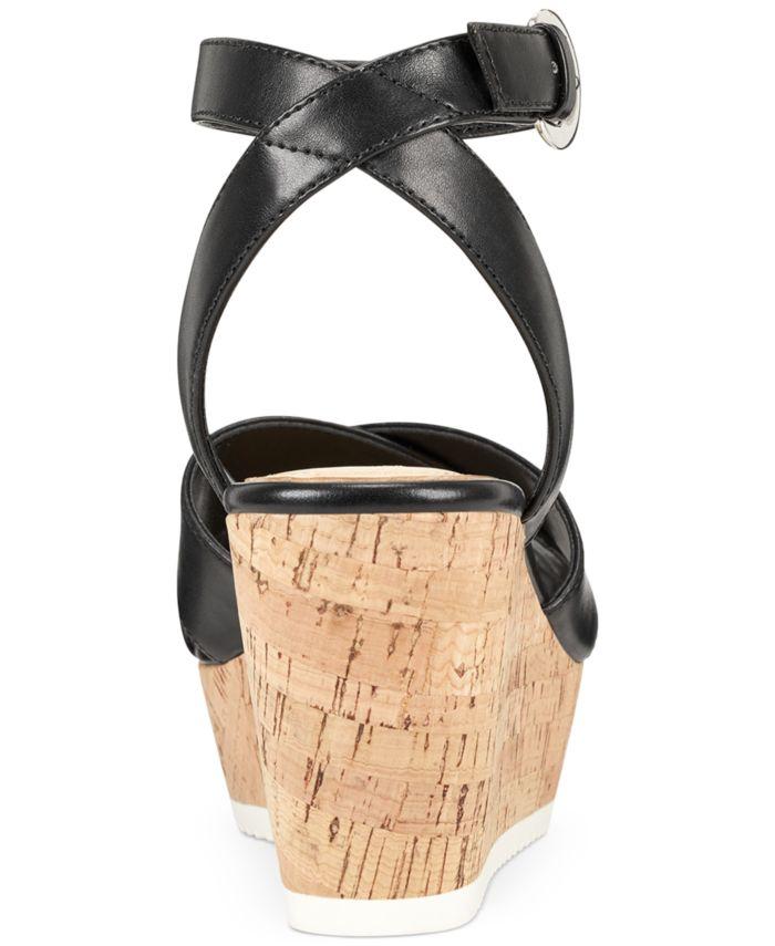 Nine West Dureen Platform Wedge Sandals & Reviews - Sandals - Shoes - Macy's