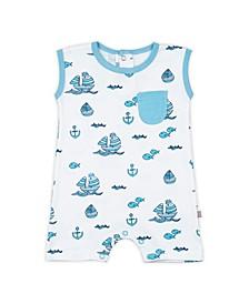 Baby Boys Sailboats Sleeveless Romper