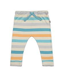 Baby Boys and Girls Bright Stripes Drawstring Trouser