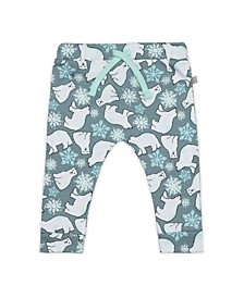 Baby Boys and Girls Snow Bears Drawstring Trouser