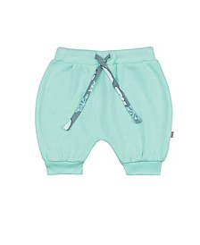 Baby Girls Snow Bear Mint Puff Shorts