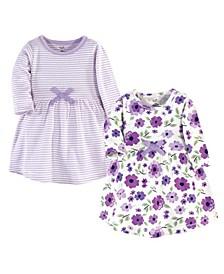 Toddler Girls Garden Long-Sleeve Dresses, Pack of 2