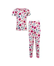 Big Girls and Boys Garden Floral Tight-Fit Pajama Set, Pack of 2