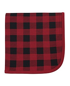 Baby Girls and Boys Buffalo Plaid Swaddle, Receiving and Multi-purpose Blanket