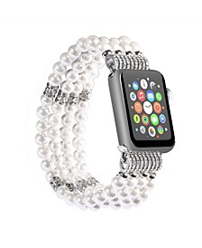 Men's and Women's Apple White Imitation Pearl - Beads Replacement Band 40mm