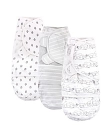 Baby Girls and Boys Safari Swaddle Wraps, Pack of 3