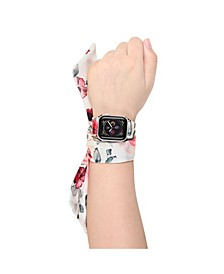 Men's and Women's Apple Multi Colored Scarf Silk Leather Replacement Band 40mm