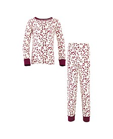 Big Girls and Boys Berry Branch Tight-Fit Pajama Set, Pack of 2
