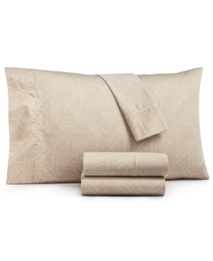 Closeout! Hotel Collection Etched Block California King Sheet Set, Created for Macy's Bedding