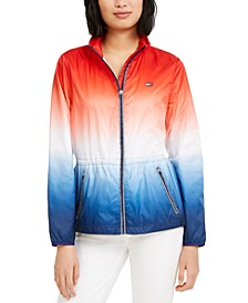 Ombré Windbreaker Jacket