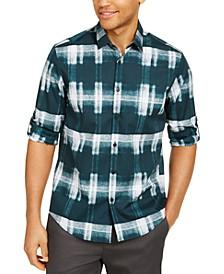 Men's Boris Plaid Cotton Shirt, Created for Macy's