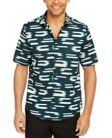 Men's Classic-Fit Abstract Geo-Print Shirt, Created for Macy's