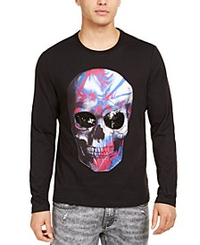 INC Men's Battle Skull Graphic T-Shirt, Created for Macy's