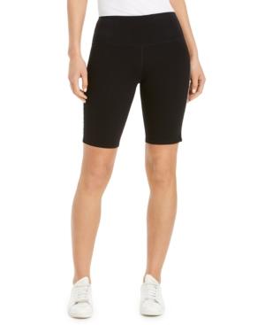 Calvin Klein Performance Logo Stripe High-waist Bike Shorts In Black