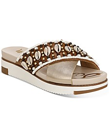 Women's Austen Seashell Crossband Flat Sandals