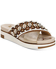 Sam Edelman Women's Austen Seashell Crossband Flat Sandals
