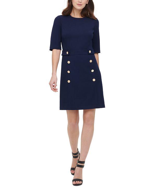 DKNY Embellished Sheath Dress