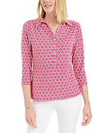 Printed 3/4-Sleeve Knit Top, Created for Macy's