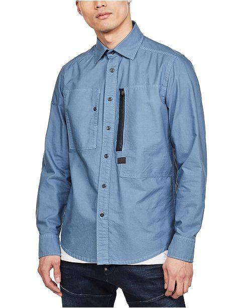 G-Star Raw Men's Powel Slim-Fit Dual Pocket Shirt, Created for Macy's