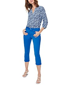 Chloe Tummy-Control Capri Jeans
