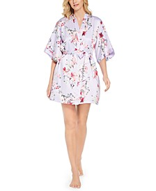 INC Women's Printed Wrap Robe, Created for Macy's