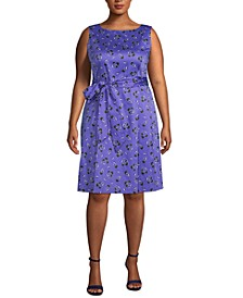 Plus Size Tussy Mussy Printed Dress