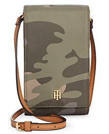 Julia Camo Phone Crossbody