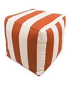 """Vertical Stripe Ottoman Pouf Cube 17"""" x 17"""""""