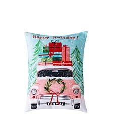 """Christmas Car Decorative Pillow, 16"""" x 12"""""""