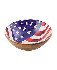 Wood & Enamel Bowl