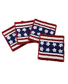 Beaded Flag Coasters