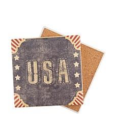 Vintage Stars & Stripes USA Coaster