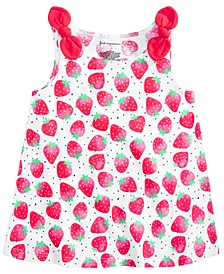 Baby Girls Cotton Strawberry Knot Tank Top, Created for Macy's