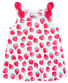 First Impressions Toddler Girls Cotton Strawberry Knot Tank Top, Created for Macy's