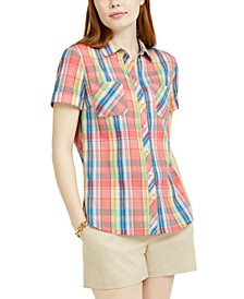 Heathered Plaid Camp Shirt